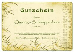 Gutschein taiji qigong